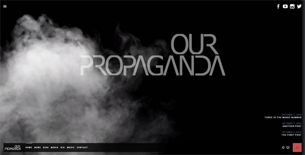 our propaganda site screengrab